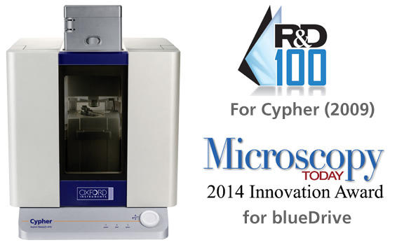 The Asylum Research Cypher AFM and blueDrive have won R&D 100 and Microscopy Today awards for innovation