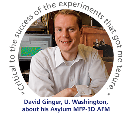 David Ginger found the solution he needed with an Asylum MFP-3D AFM